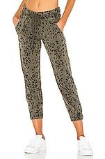 Bella Dahl Pocket Jogger in Olive Leopard