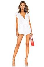 Bella Dahl Ruffle Sleeve Romper in White