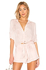 Bella Dahl Tie Front Button Down Top in Serie Rose