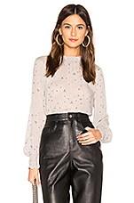 Bella Dahl Elastic Shirred Blouse in Grey
