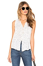 Bella Dahl Shirred Blouse in White
