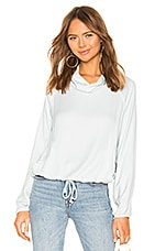 Bella Dahl Welt Pocket Pullover in Polished Silver