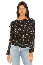 Bella Dahl Ruffle Long Sleeve Blouse in Scattered Floral