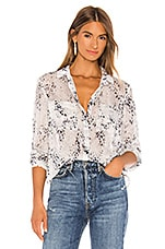 Bella Dahl Hipster Shirt in White & Chalk Blue