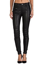 Leather Pant 6 in Black