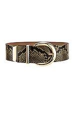 B-Low the Belt Kate Python Belt in Olive & Gold