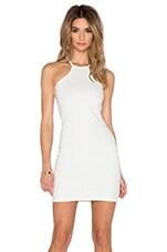 Bodycon Racerback Dress in White