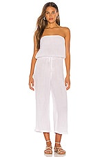 Blue Life Bell Jumpsuit in White