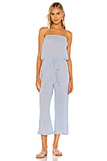 Blue Life Bell Jumpsuit in Chambray