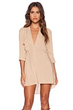 Shirt Dress in Tan