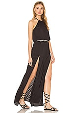 Double Slit Maxi Dress en Soft Black