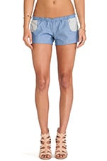 Americana Chambray Shorties in Denim