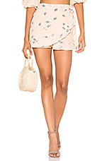 Blue Life Rosie Ruffle Wrap Short in Pink Champagne Floral