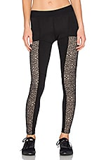 Fit Lacey Contrast Legging in Black