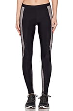 Fit Fishnet Moto Legging en Noir