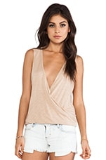Sleeveless Haley Top in Nude