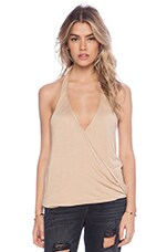 Cowl Back Hayley Halter Top en Nude