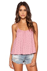 Eyelet Cami in Mauve