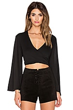 Hayley Crop Top en Noir