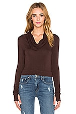 TOP CROPPED COWL NECK