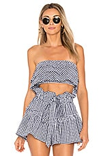 Blue Life Lola Top in Navy & White Gingham