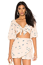 Blue Life Jayda Top in Pink Champagne Floral