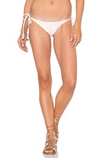 Tribal Tie Side Bikini Bottom in White Sands