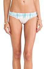 Gobi Brazillian Ruffle Bottom in Juniper Tie Dye