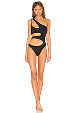 Blue Life Willow One Piece in Black