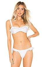 Blue Life Roped Up Corset Top in White Jacquard