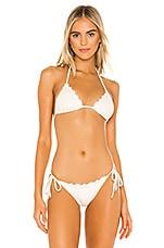 Blue Life Reese Bikini Top in Cream Sparkle
