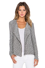 Bella Luxx Asymmetrical Moto Jacket in Black & White
