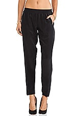 Silk Pant in Black