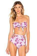 BOAMAR Dance Strapless Bikini Top in Pink