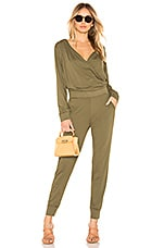 Bobi Hooded Jumpsuit in Fatigues