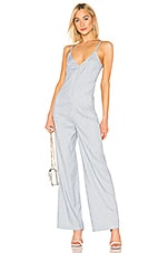 Bobi BLACK Cruise Stripe Jumpsuit in Blue