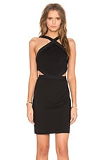 ROBE COURTE DOUBLE KNIT SLEEVELESS CUTOUT