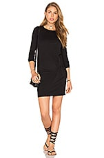 Supreme Jersey Long Sleeve Knot Mini Dress en Noir