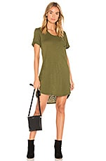 Bobi Slub Jersey T Shirt Dress in Cargo