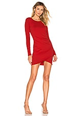 Bobi Supreme Jersey Ruched Bodycon Dress in Siren