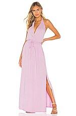 Bobi Draped Modal Jersey Maxi Dress in Lily