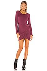 Bobi Supreme Jersey Dress in Fig