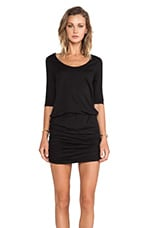 Supreme Jersey Long Sleeve Mini Dress in Black