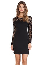 BLACK Jersey Long Sleeve Dress in Black