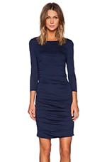 Modal Jersey Ruched Midi Dress in Soldier