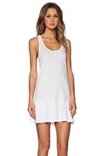 Light Weight Jersey Mini Dress in White