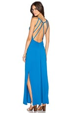 Supreme Jersey Open Back Maxi Dress in Periwinkle