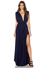 Modal Jersey Plunge Neck Maxi Dress in Yacht