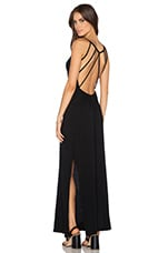 Supreme Jersey Open Back Maxi Dress in Black