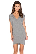 Light Weight Jersey Dolman Dress in Thunder